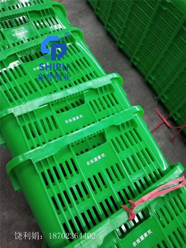 红河塑料周转萝镂空生鲜配送箩框