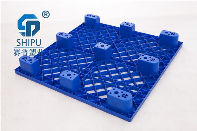 1.2*1.0米胶垫板网格九脚塑料托盘