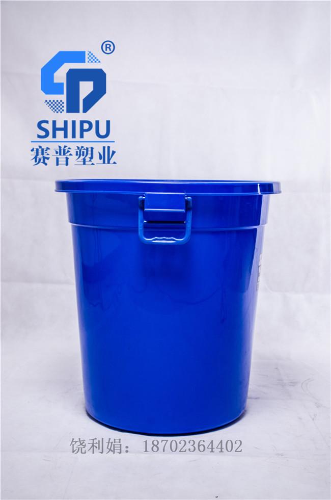 蓝色医院用废物垃圾桶强力桶