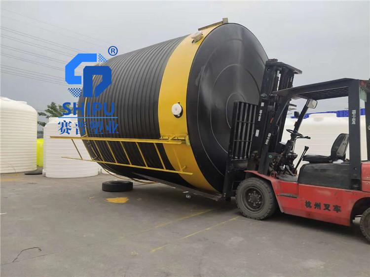 昆明30吨塑胶水塔 三十方PE塑料水塔