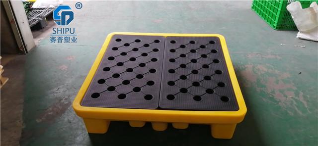 开县盛漏油桶托盘塑料防渗漏托盘供应商
