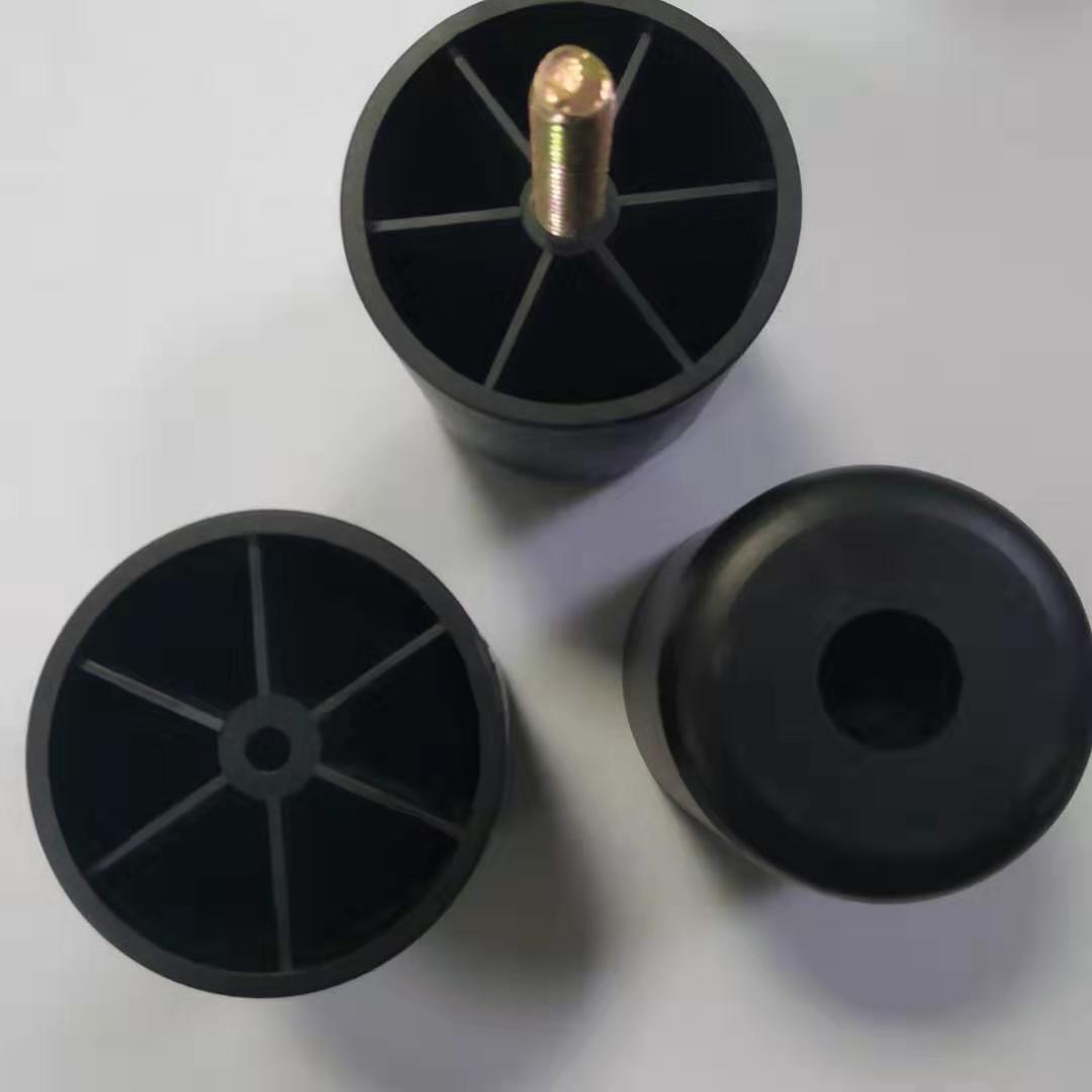 圆形沙发脚 圆形塑胶沙发脚 50x50黑色圆形沙发脚