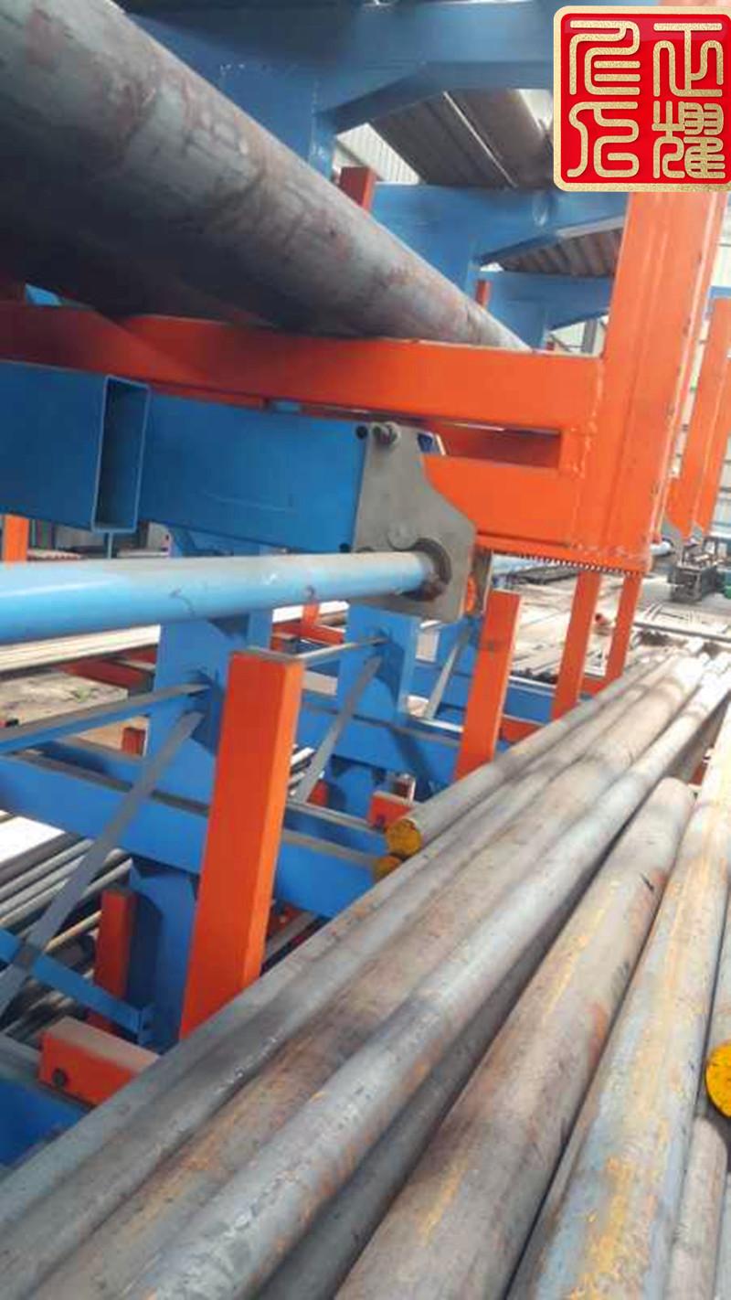 手动摇出式圆钢棒料货架上架存放50吨圆钢棒料