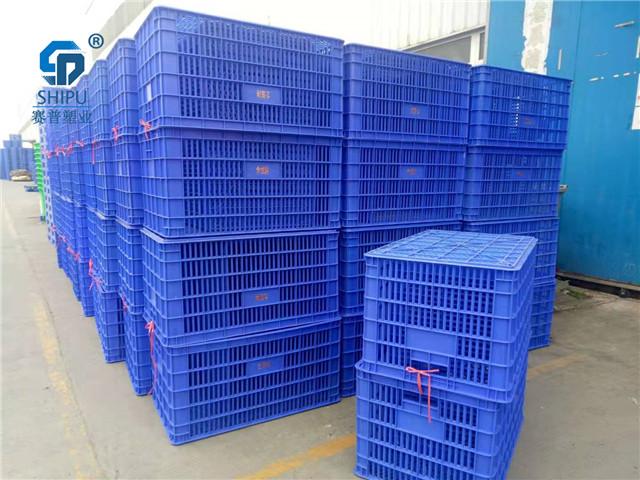 镂空熟胶食品级塑料周转筐厂家批发