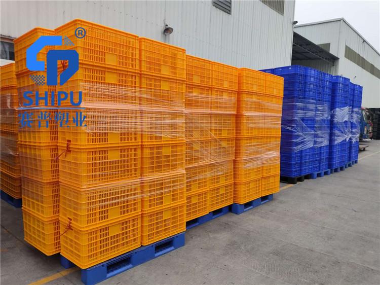 厂家批发塑料筐 蔬菜水果多用塑料筐可套叠加厚