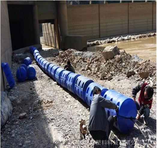 柏泰设计恩平市水电站拦污漂排浮筒安装工程【拦污】