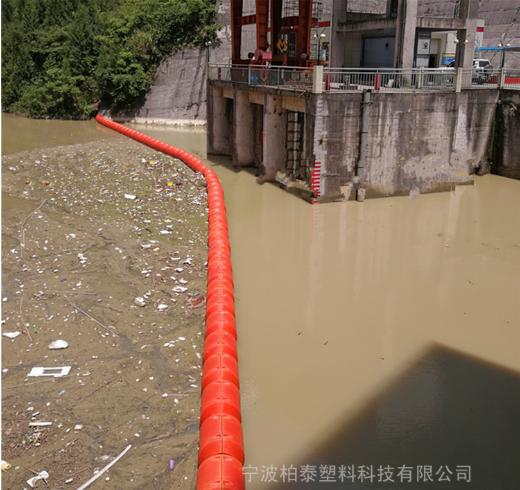 【拦污项目】河道拦截隔离浮筒 水面拦污塑料浮筒