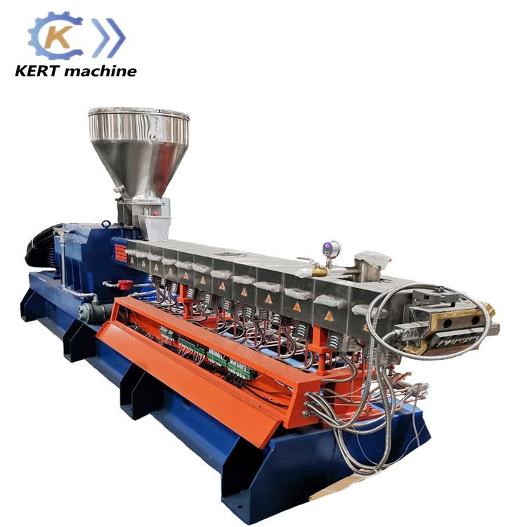 南京科尔特高产量PVC电缆料类双阶双螺杆挤出机KET95