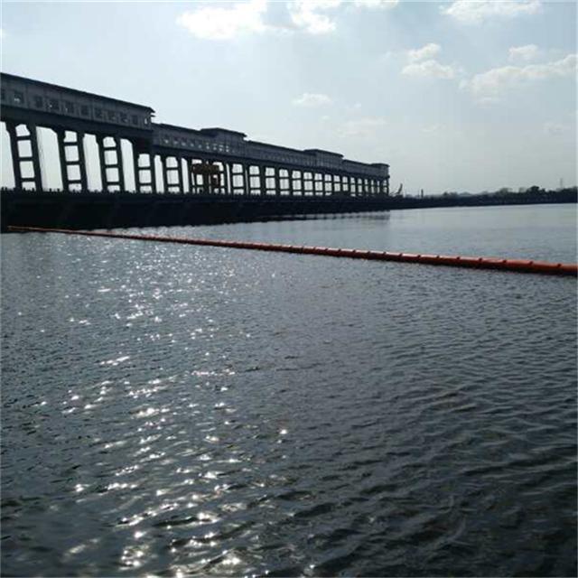 柏泰供应河道上的生活垃圾拦截设施浮筒