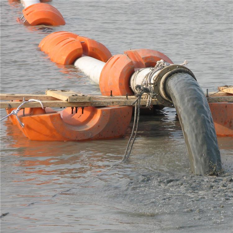 柏泰供应抽砂清淤管道浮筒10寸夹管250mm