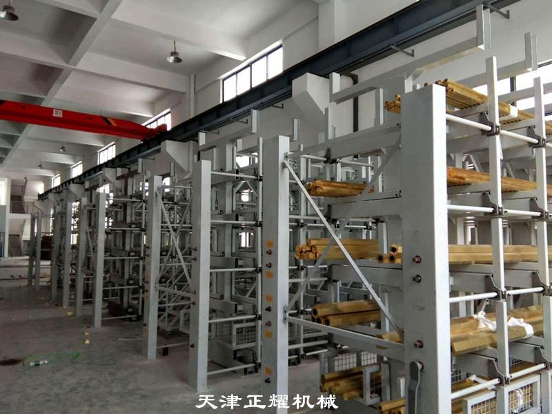 型材貨架立體存放多層多貨位分類擺放很多種類的型材