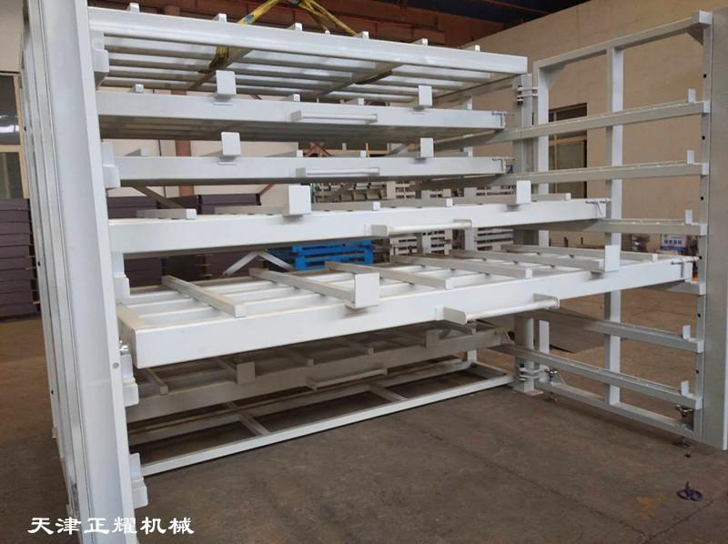 幾十種規格的板材使用臥式板材貨架存放節省空間整齊
