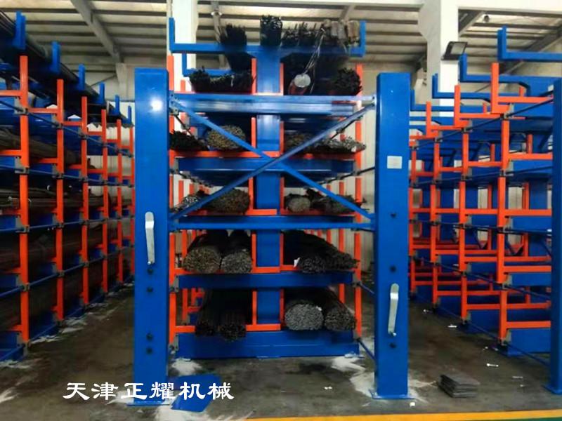 配合吊車使用的角鋼放置架伸縮懸臂式結構手動操作