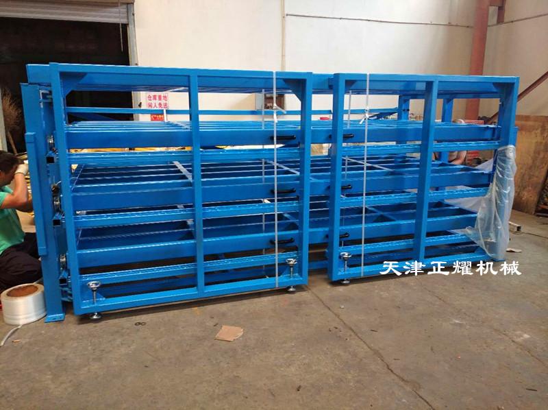 不同規格尺寸厚度的板材使用多層抽屜式板材貨架省空間