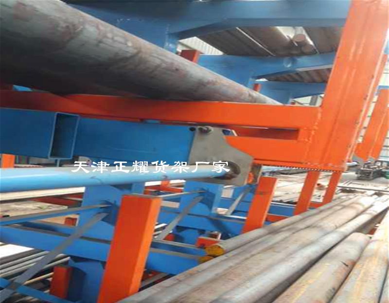 圓鋼貨架小空間存放多種規格材質數量的圓鋼